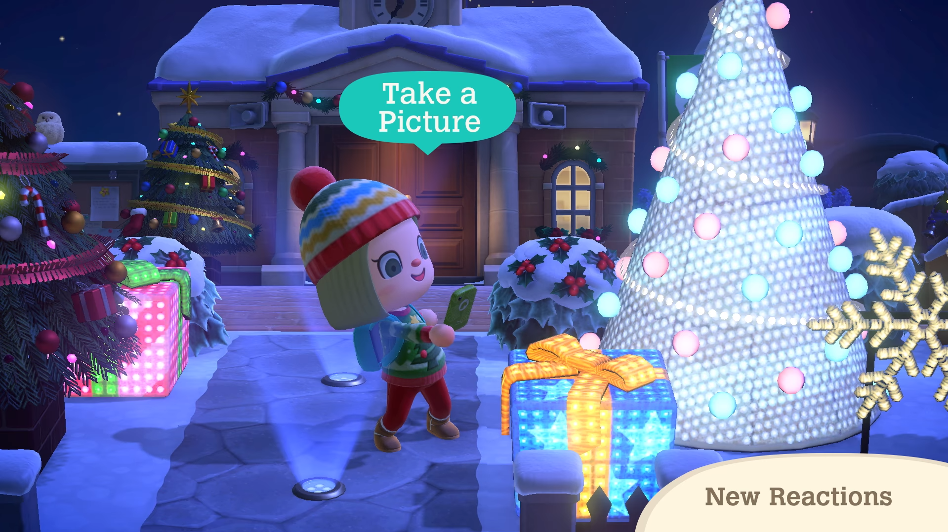 Captura de uno de los nuevos gestos de Animal Crossing: New Horizons
