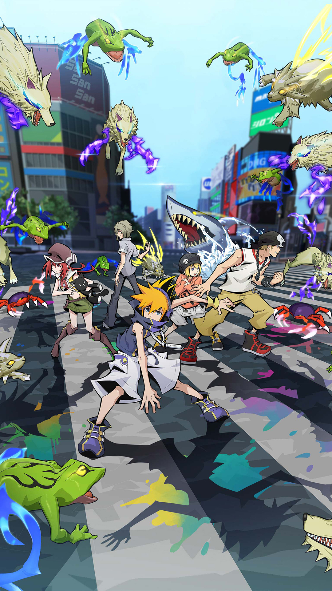 Poster promocional de The World Ends With You