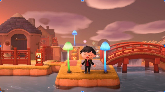Lámparas de hongo en Animal Crossing: New Horizons