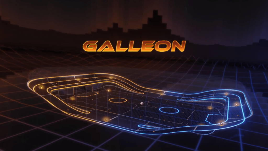 Arena Galleon en el modo Rocket Labs de Rocket League